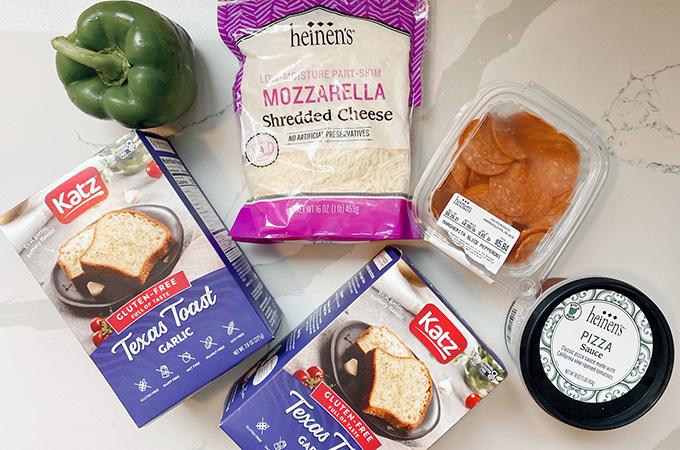 Gluten Free Texas Toast Pizza Ingredients