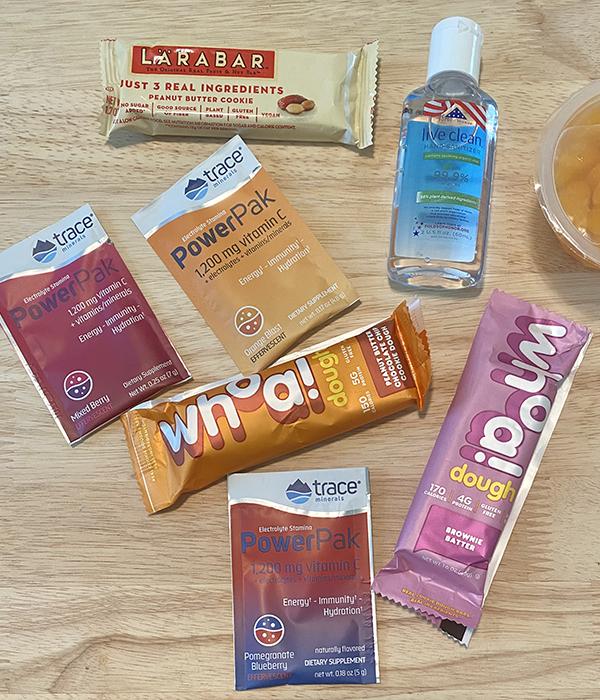 Hand Sanitizer, Wellness Bars and PowerPaks
