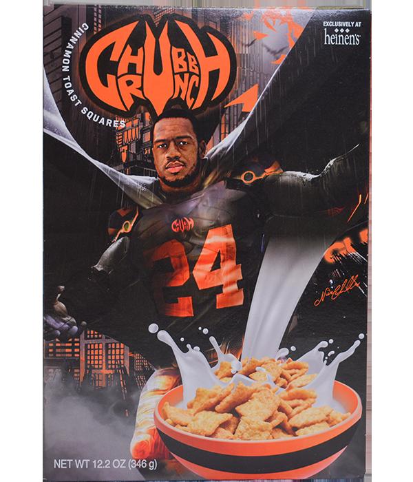 Chubb Crunch Cereal Box