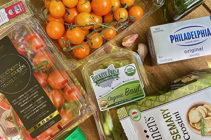 Creamy Garden Bruschetta Dip Ingredients