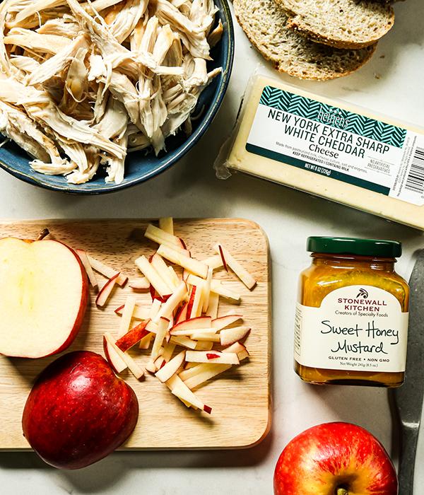Honey Mustard Chicken Melts with Apple Slaw