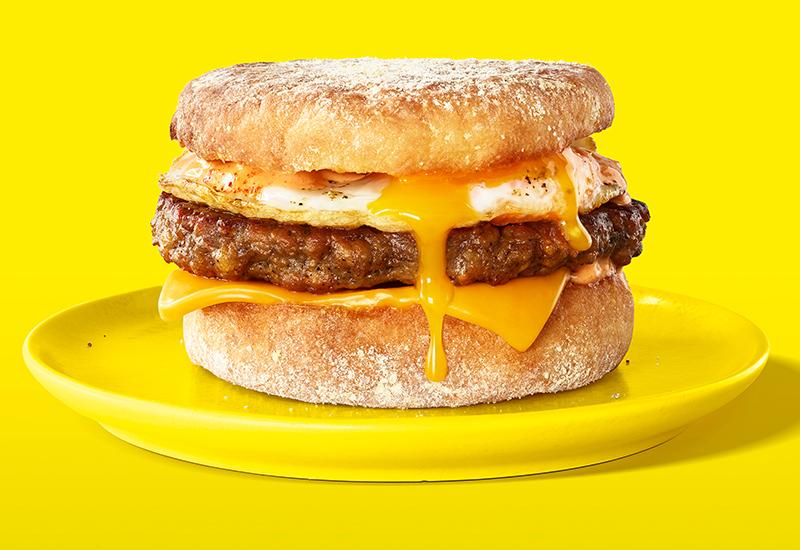Impossible Foods Sausage Breakfast Sandwich