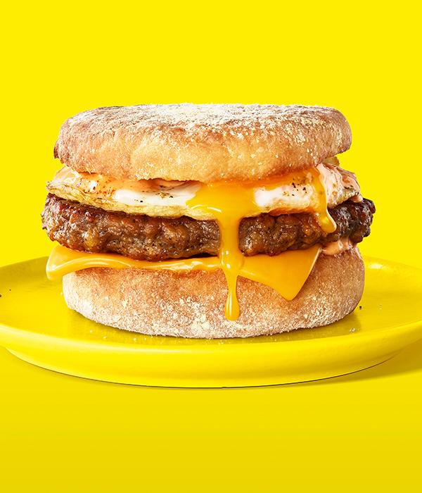 Impossible Sausage Breakfast Sandwich