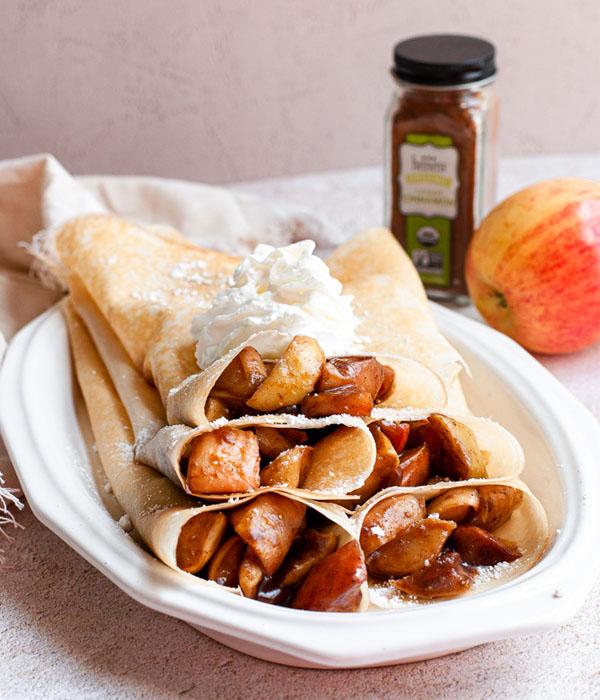 Apple Pie Crepes