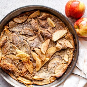 Chai Spiced Apple Dutch Baby