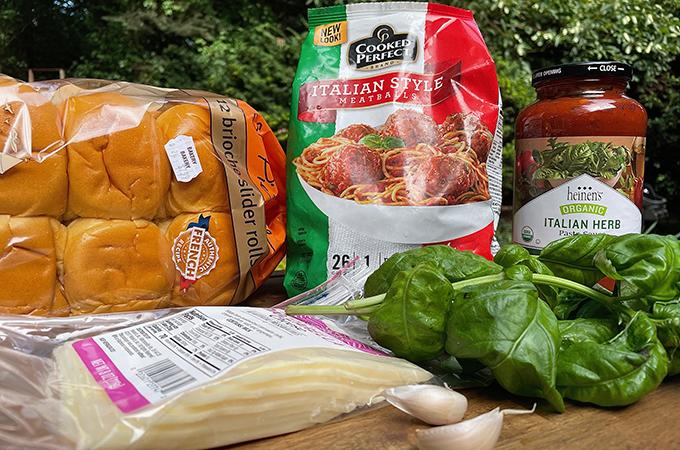 Grilled Meatball Slider Ingredients