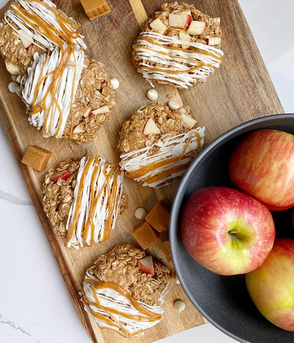 No-Bake Caramel Apple Cookies