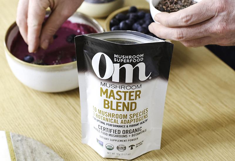 Om Mushrooms Master Blend with Smoothie Bowl