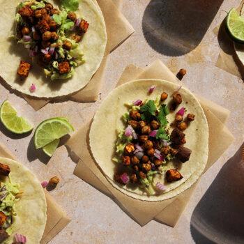 Vegan & Paleo Sweet Potato & Chickpea Tacos