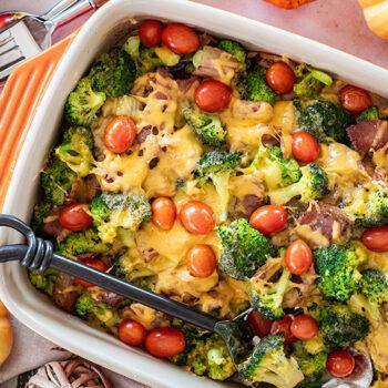 Cajun Chicken Broccoli Cheddar Bake
