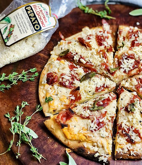 Hot Honey Pumpkin Pizza