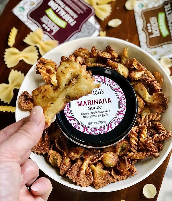 Pasta Chips with Heinen's Marinara