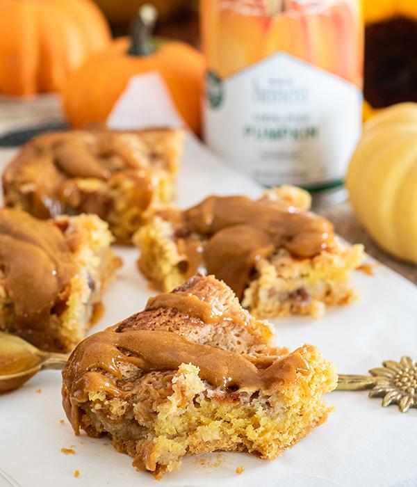 Pumpkin Cheesecake Bars with Heinen's Canned Pumpkin