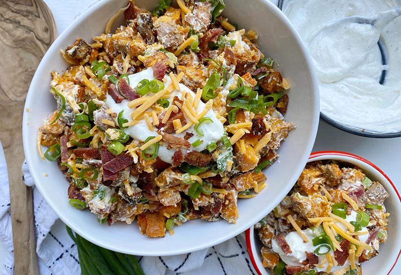 Twice Baked Sweet Potato Salad